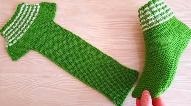 不一样的方法编织地板袜,简单易学,款式还漂亮
