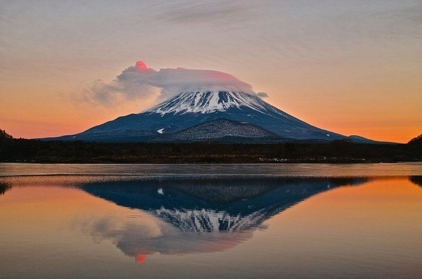 不同时间和角度下的富士山!