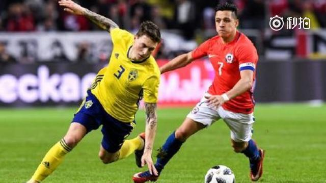 比达尔世界波瑞典1-2智利