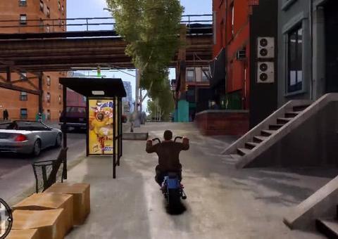 当震撼纽约《GTA4》被高清还原,可是这死亡秋千一点没变!