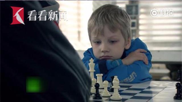 【自古天才出少年 俄6岁象棋神童将参加世界锦标赛】俄罗斯一名叫米沙的6岁...