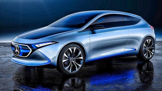 奔驰首款纯电动车EQ概念车曝光,集众多黑科技于一体长春车天下汽车街拍  ...
