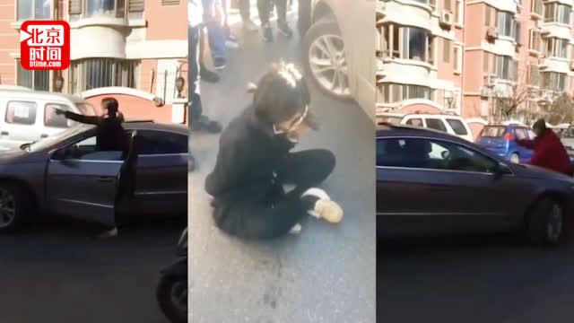 沈阳女司机撞人逃逸咬伤民警:我爸是XXX 民警:爱谁谁