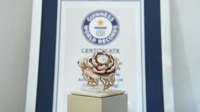 """15858颗!""""牡丹表""""亮相世界钟表珠宝展 获封世界镶钻最多手表"""