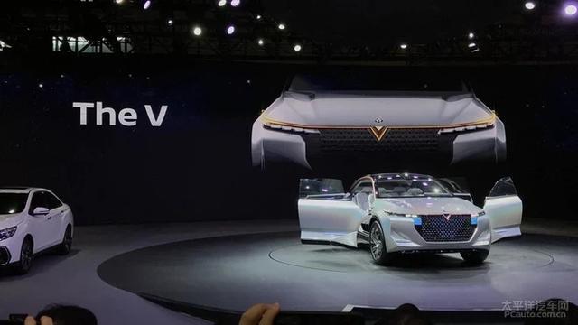 东风启辰三款EV力作亮相 The V概念车吸睛