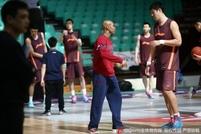 北京首钢赛前训练