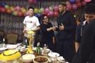 北京男篮大摆庆功宴