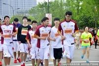 浙江男篮助阵马拉松