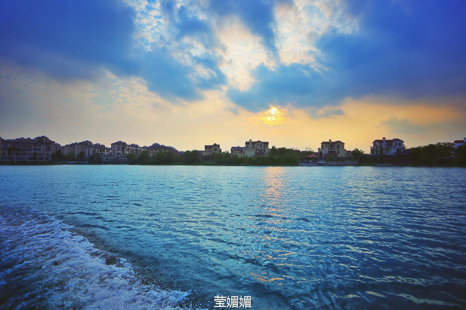 夕阳下的淀山湖 我梦里的故乡