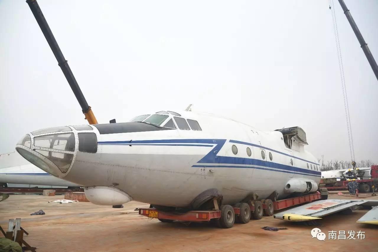 体量最大飞机抵达南昌军事装备展示中心