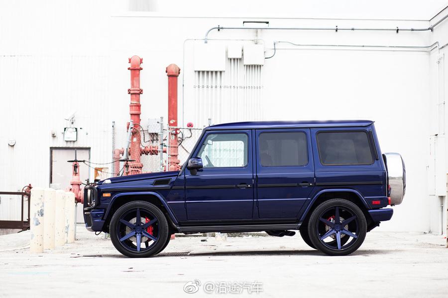 高雅蓝,奔驰G63大赏