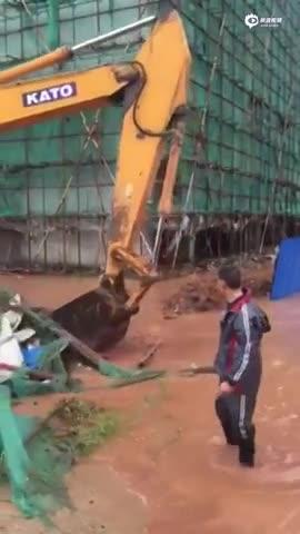 江西奉新县内涝山洪强降雨