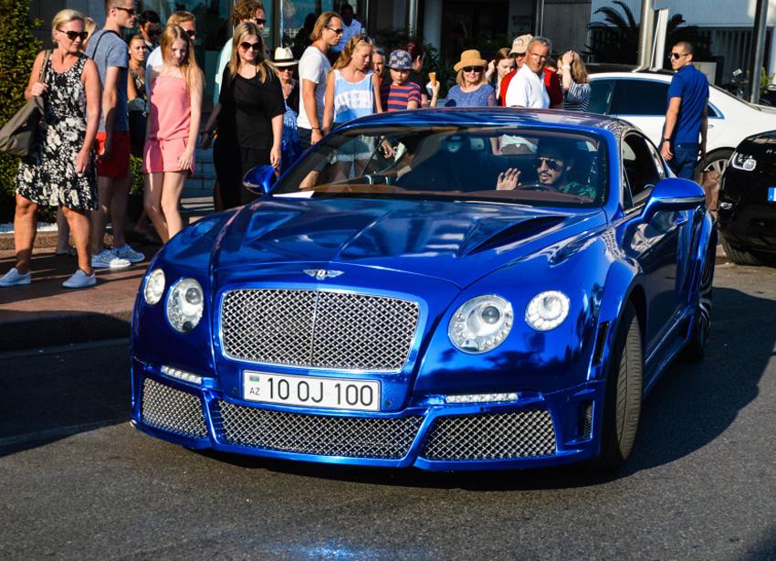 电镀蓝宾利Continental GT