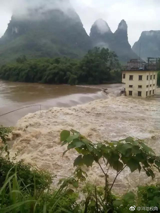 宜州市和金城江区迎来今年最强的一次暴雨天气,其中罗城纳翁乡社甫村