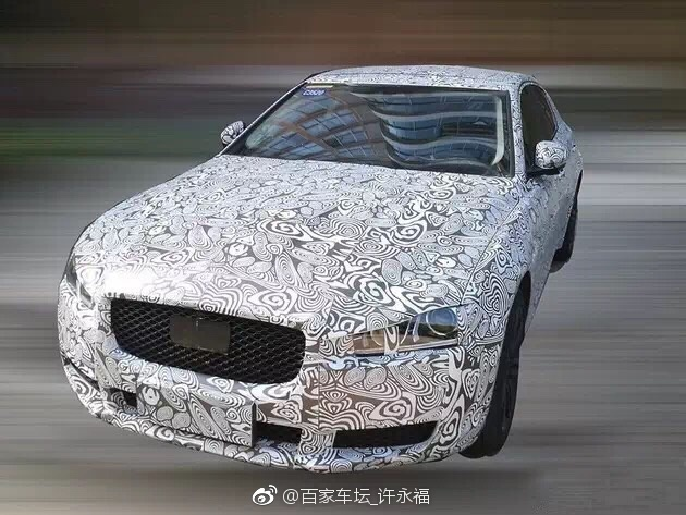 目前,一张捷豹XEL车型的内饰谍照曝光