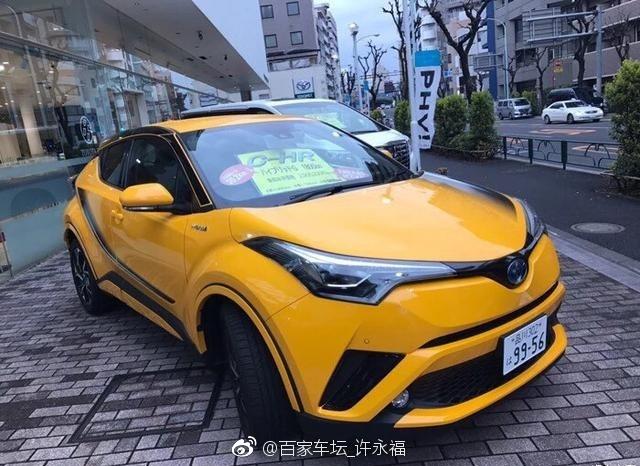 丰田跨界潮车C-HR,打破丰田传统的科幻设计