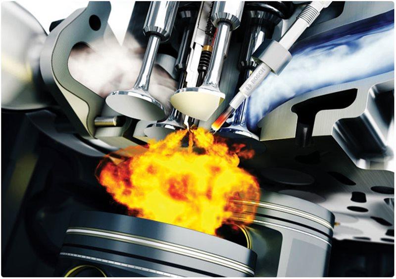 ▲发动机燃烧室内的油气混合气,不是同时被点燃的