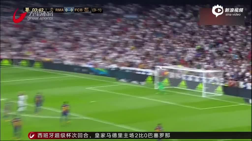 视频-C罗停赛缺阵 皇马5比1双杀巴萨问鼎超级杯