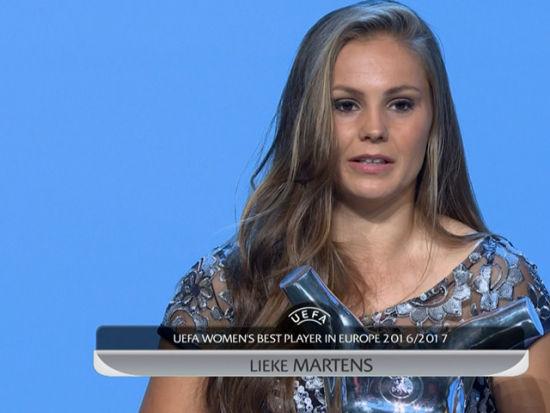 视频新闻-欧足联颁奖典礼 马藤斯当选最佳女足球员