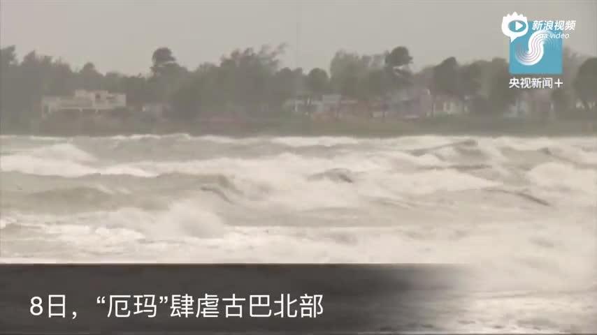 """飓风""""厄玛""""过境后现场"""