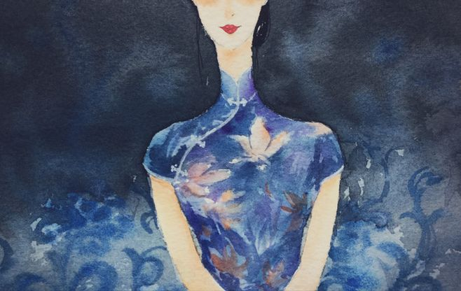 张爱玲:角色与旗袍,浑然一体