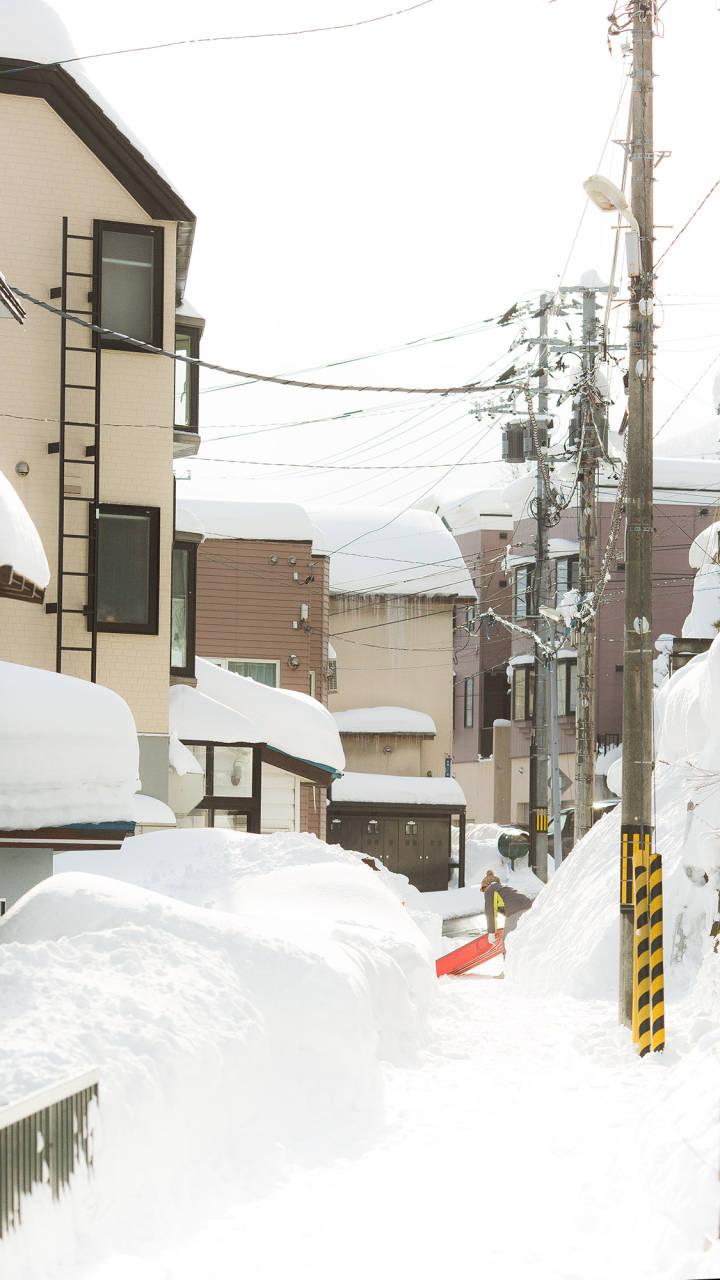 北海道的雪,好像来自二次元