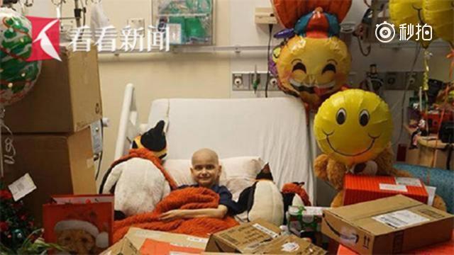 9岁癌症男孩收到全世界6.6万张贺卡
