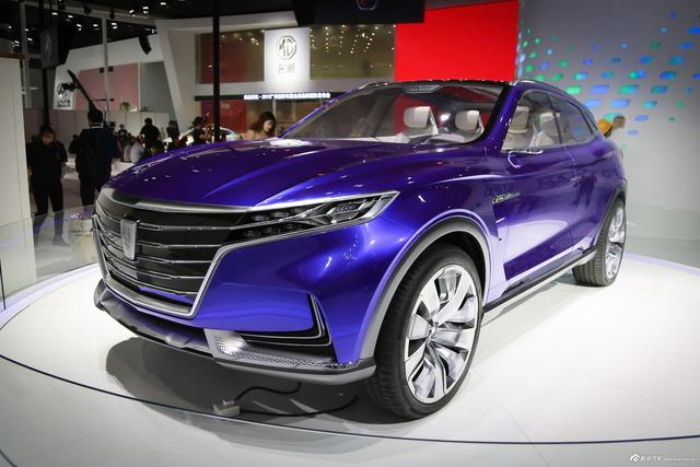 2017广州车展实拍荣威Vision-E概念车 再次让人惊叹