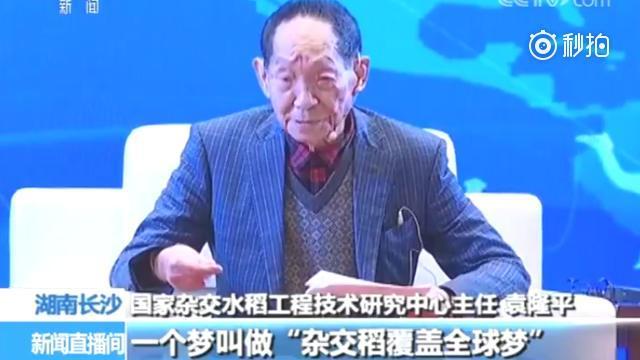 88岁袁隆平的梦想:若是天下一半稻田种杂交稻 可多养活五亿人