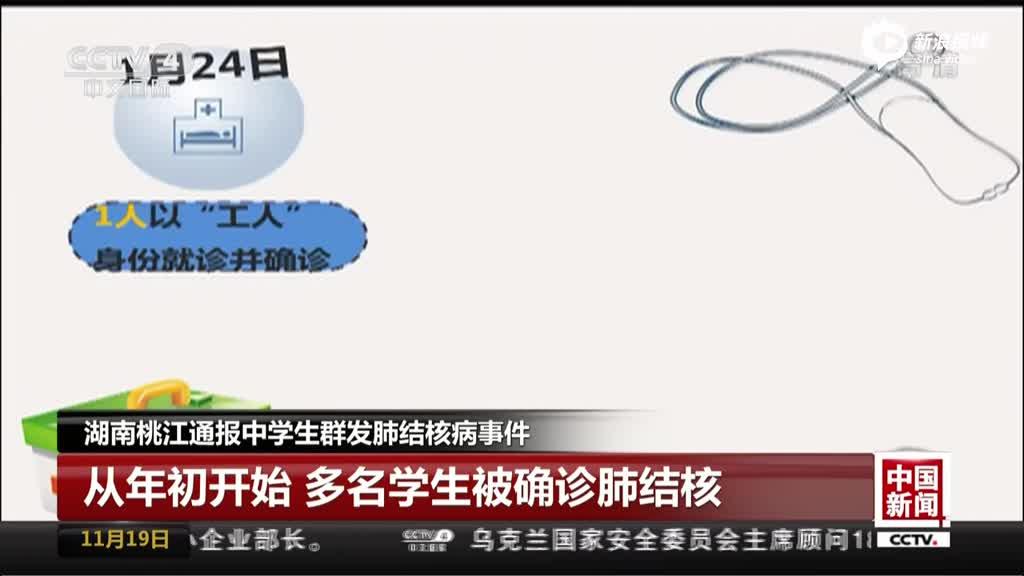 湖南桃江通报中学生群发肺结核病事件
