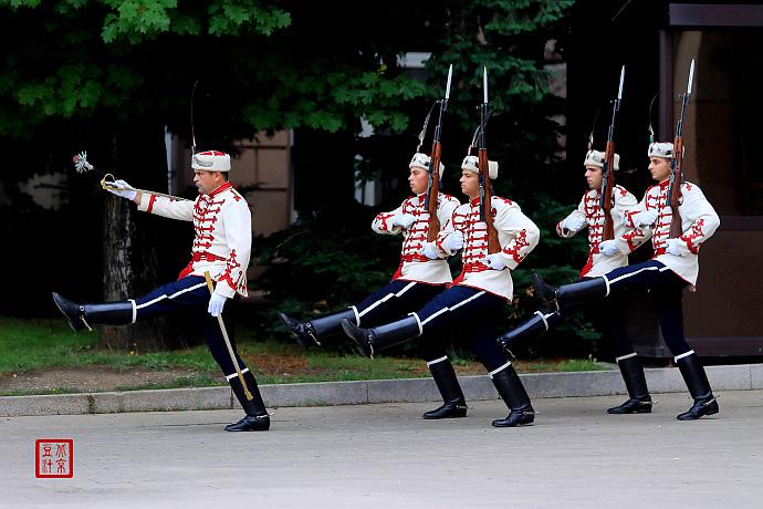 索菲亚总统府卫队换岗仪式