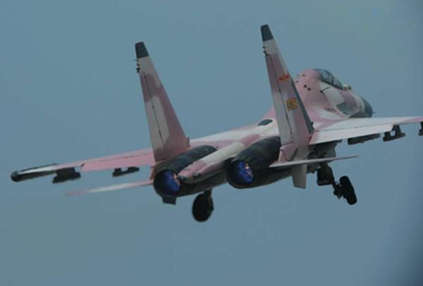 我国一款神秘战机,粉色涂装充满少女气息,执行特殊任务