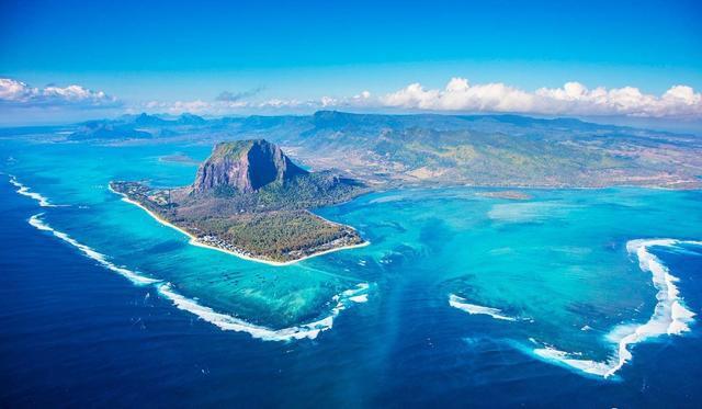 毛里求斯 壮观海底瀑布