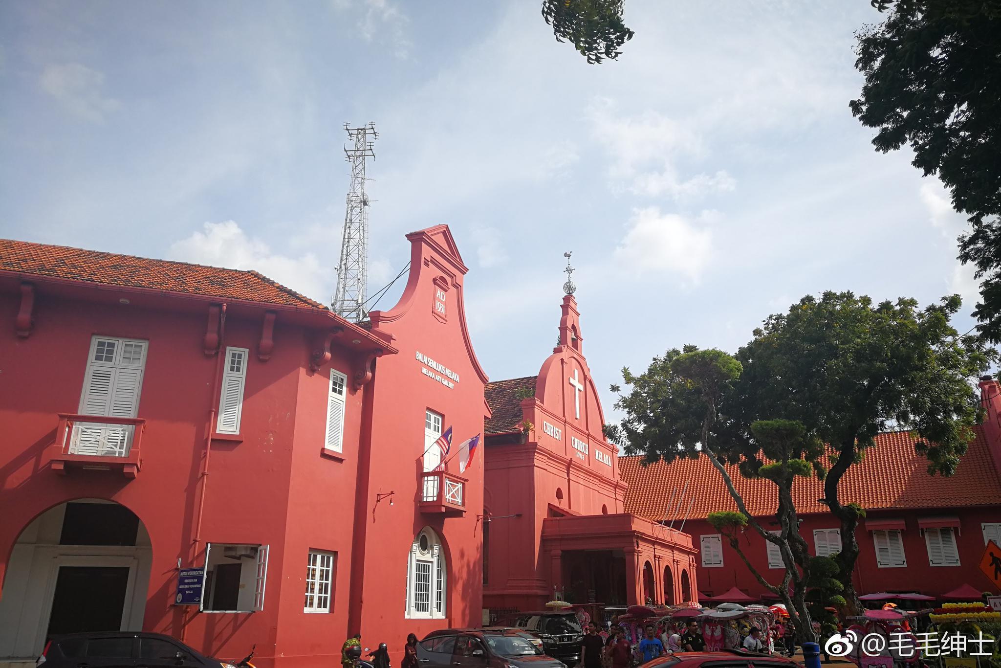 马来西亚马六甲老街区的异域风情