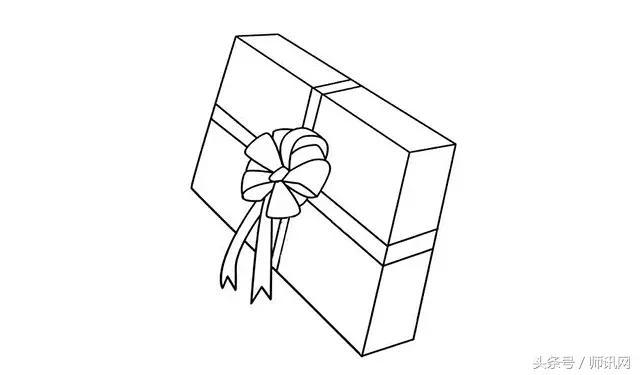 第三步 接着在半圆相接处画出一条直线,四条直线聚在梯形的吊兰上.图片