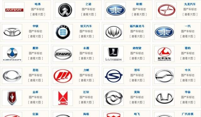 所有国产车的标志图片_5大国产车标志大变动,猎豹改得最好看!