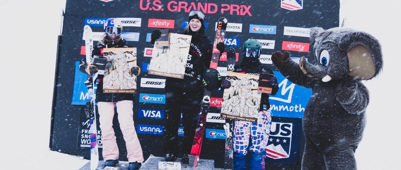 张可欣夺得自由式滑雪U型场地世界杯美国猛犸山站铜牌