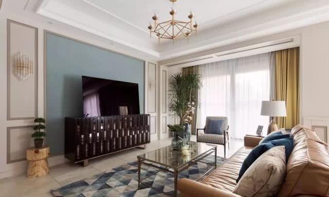 现代美式电视墙,这样设计真漂亮!图片