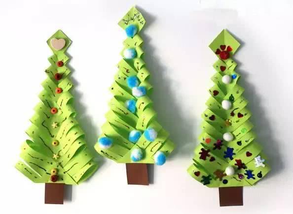 幼儿园最美圣诞节手工,看过的幼师都收藏了|圣诞节|树图片