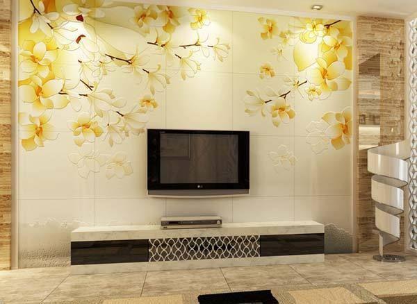 电视墙是贴瓷砖好还是贴壁纸好呢 后悔知道迟了 瓷砖 壁纸 电视墙 新浪网
