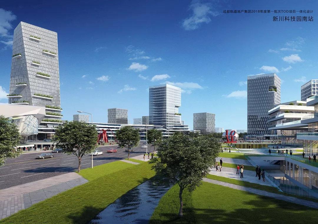 图:tod一体化设计范围内的城市结构 意向图 1)舒适漫步:以环绕