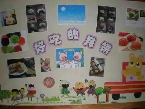 传统手工diy:幼儿园中秋节手工环创,吊饰,主题墙