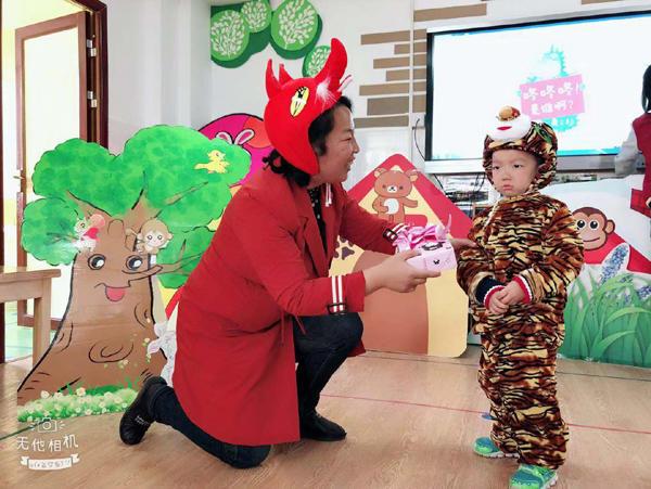 郑州二七区第一幼儿园开展经典故事表演活动