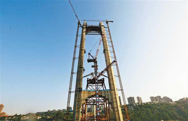 重庆红岩村大桥下月开始架梁 有望年内合龙