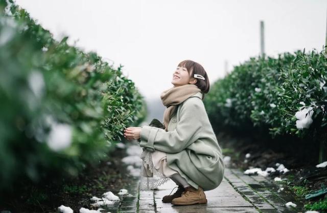 冬季,拍摄文艺清新照片的衣服穿搭
