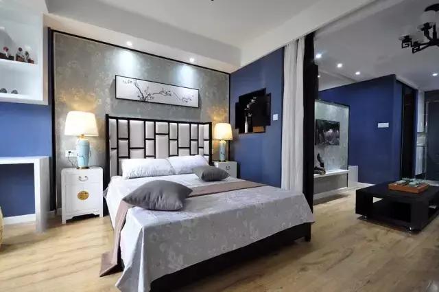 55平方新中式单身公寓装修效果图介绍,高端又大气!