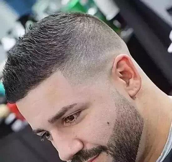 男士渐变发型短发,清爽硬汉气质图片