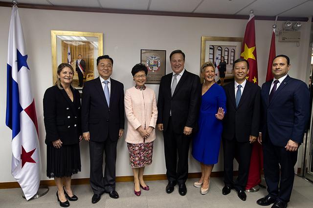 巴拿马驻香港总领事馆开馆,林郑月娥会见巴总统