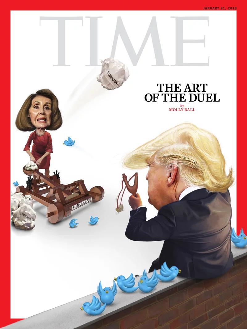 《时代》封面文章:特朗普与佩洛西的对决(全文)