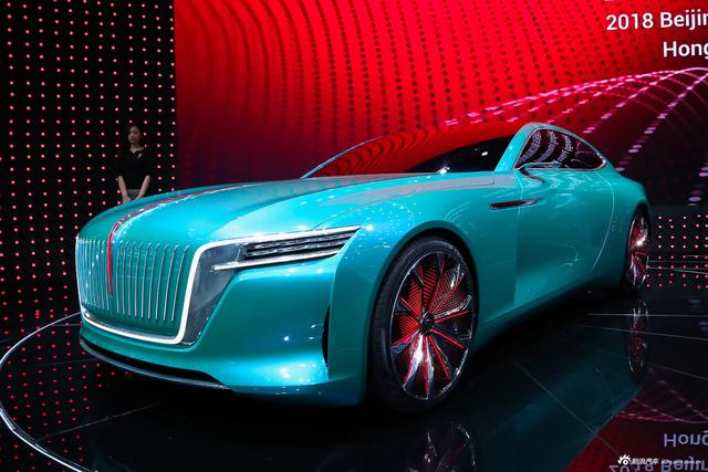 车展实拍|红旗E·境GT概念车 定位于GT跑车